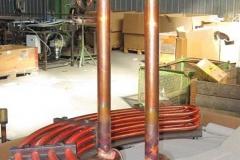 scambiatore a semiciambelle per raffreddamento olio turbina