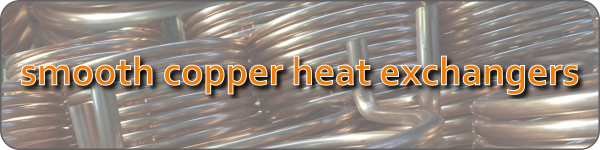smooth copper heat exchangers