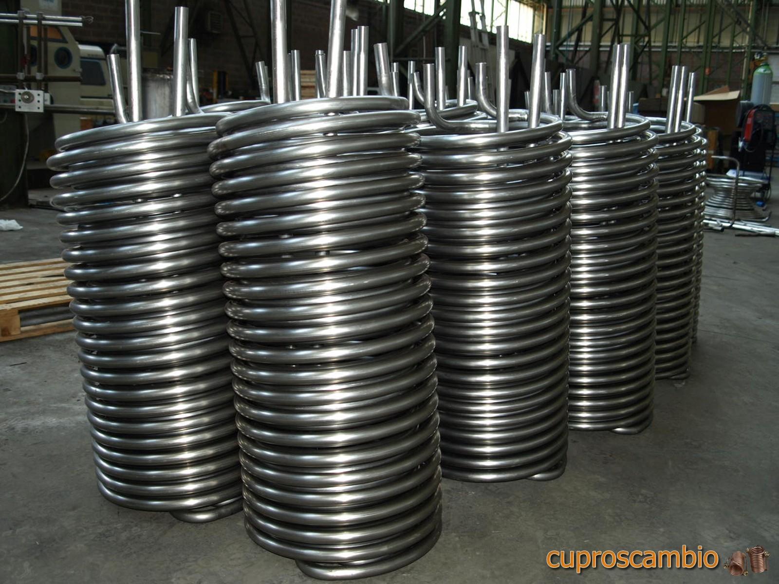 Serpentine in rame liscio e acciaio inox 316 L per la produzione di acqua calda sanitaria