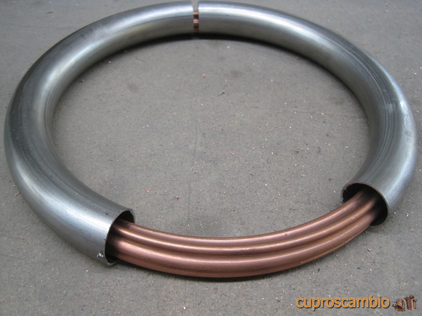 Serpentine in rame liscio e acciaio inox 316 L – tubo dentro tubo