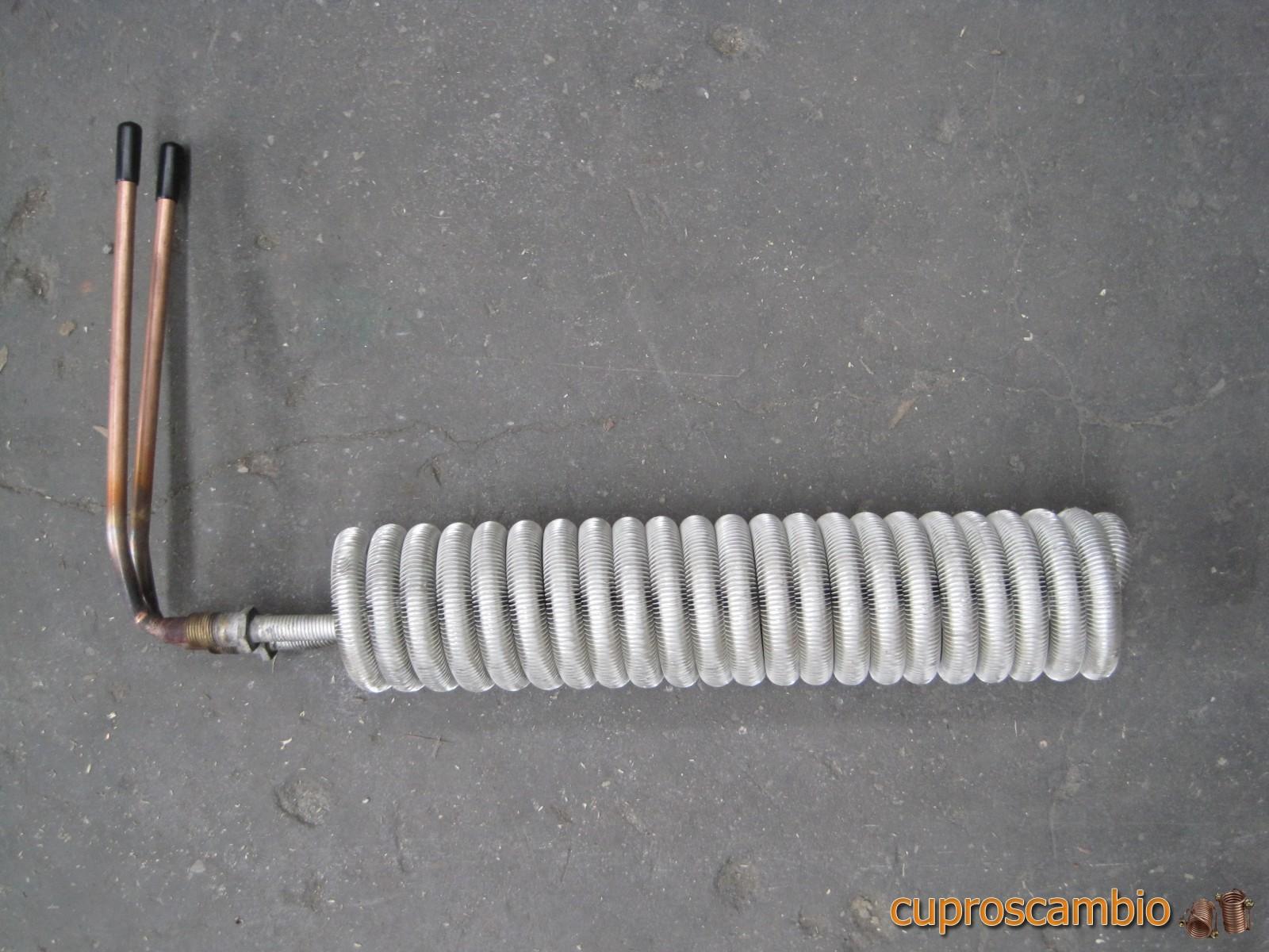 Serpentine in rame liscio e acciaio inox 316 L per pompe di calore
