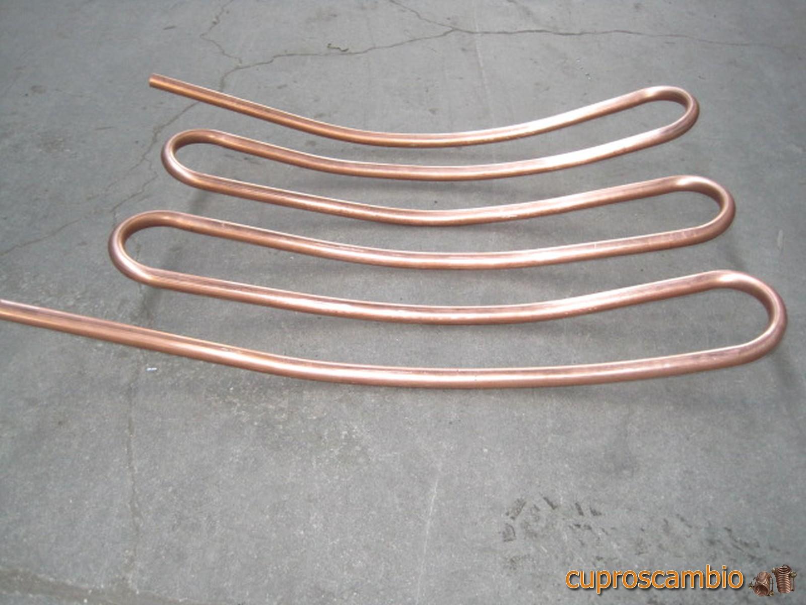 Serpentine di rame liscio e acciaio inox 316 L per il recupero di calore dai forni