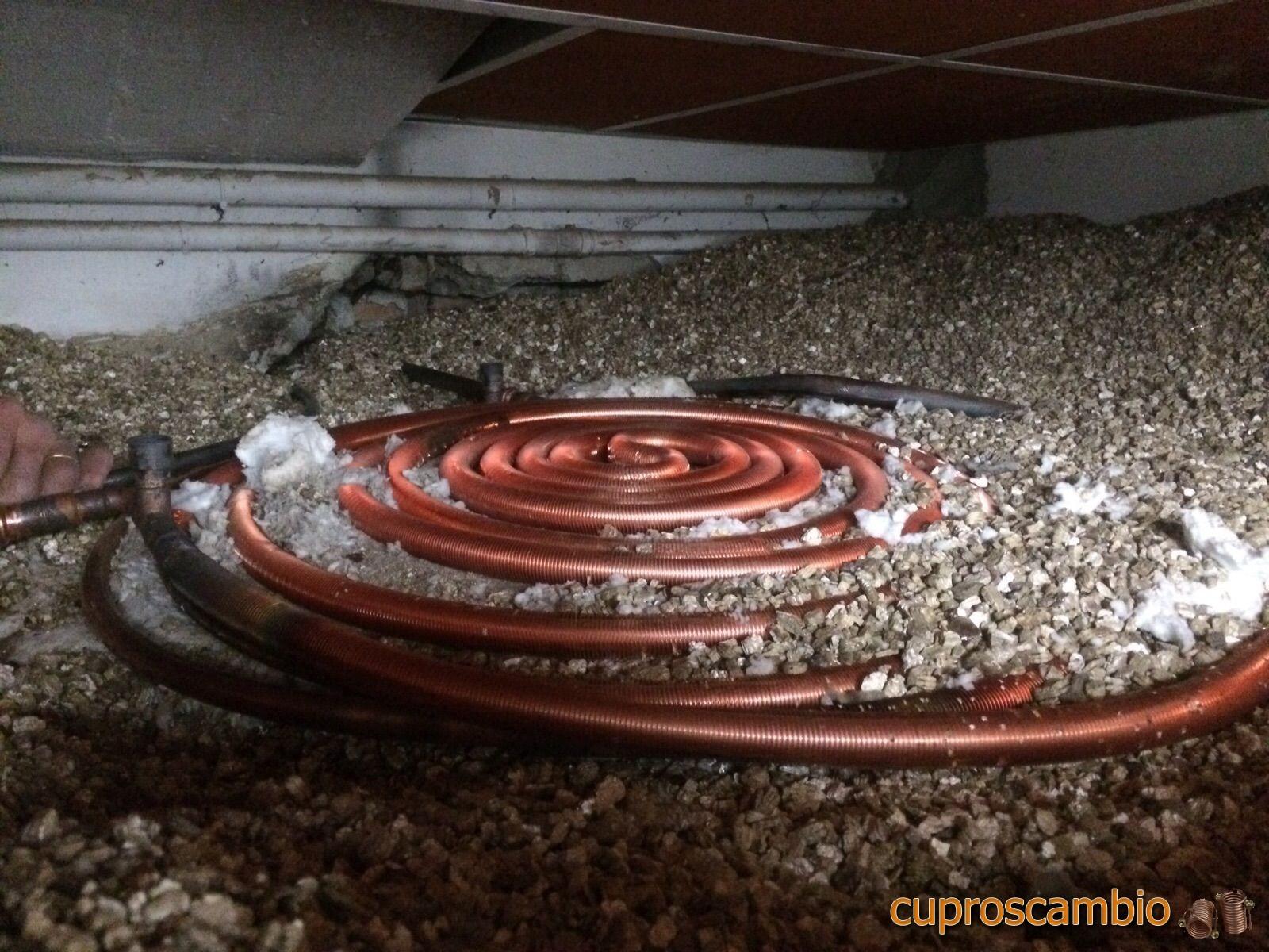 Serpentine in rame alettato per il recupero di calore dai forni
