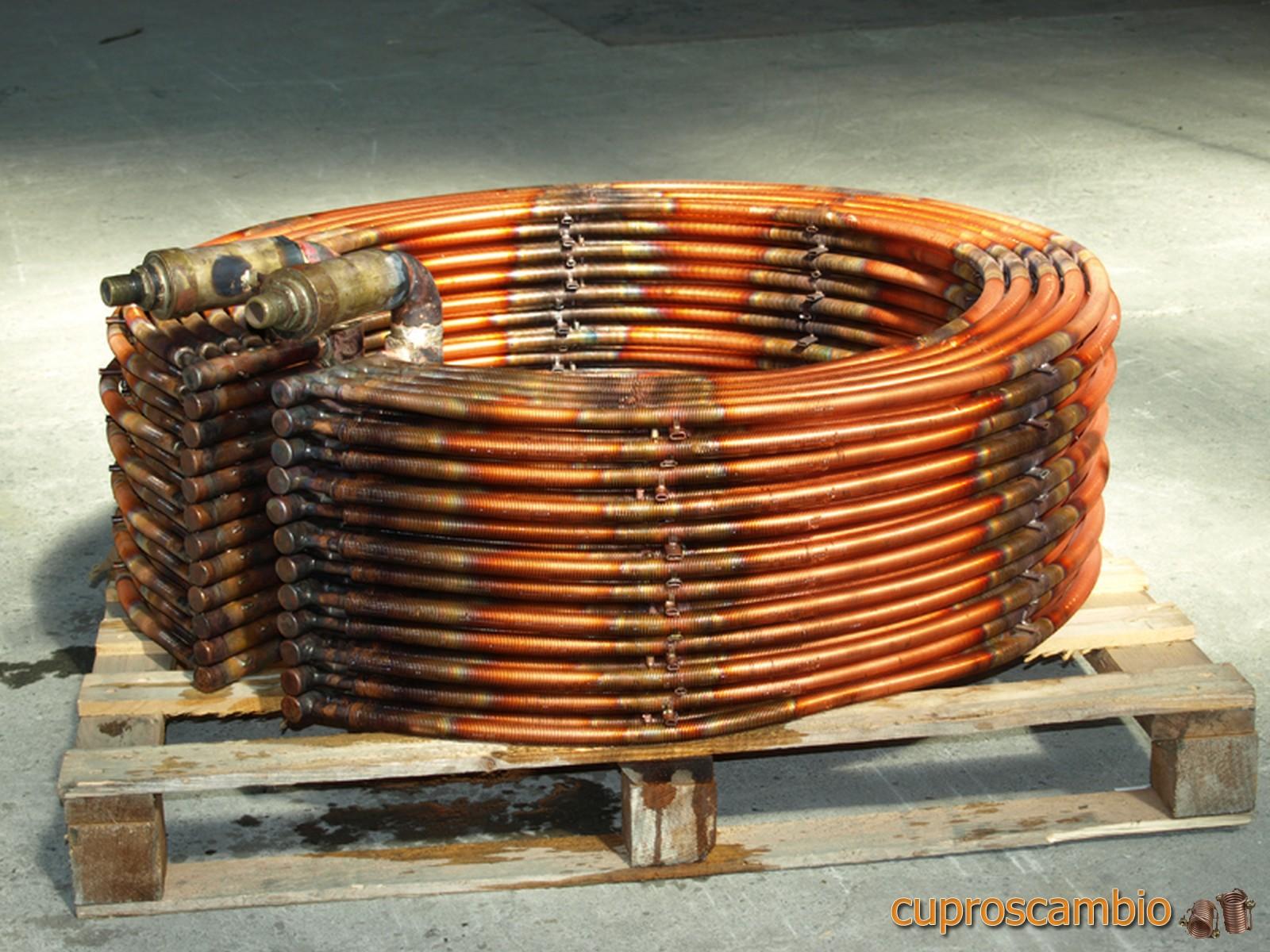 Serpentine in rame alettato per varie applicazioni industriali