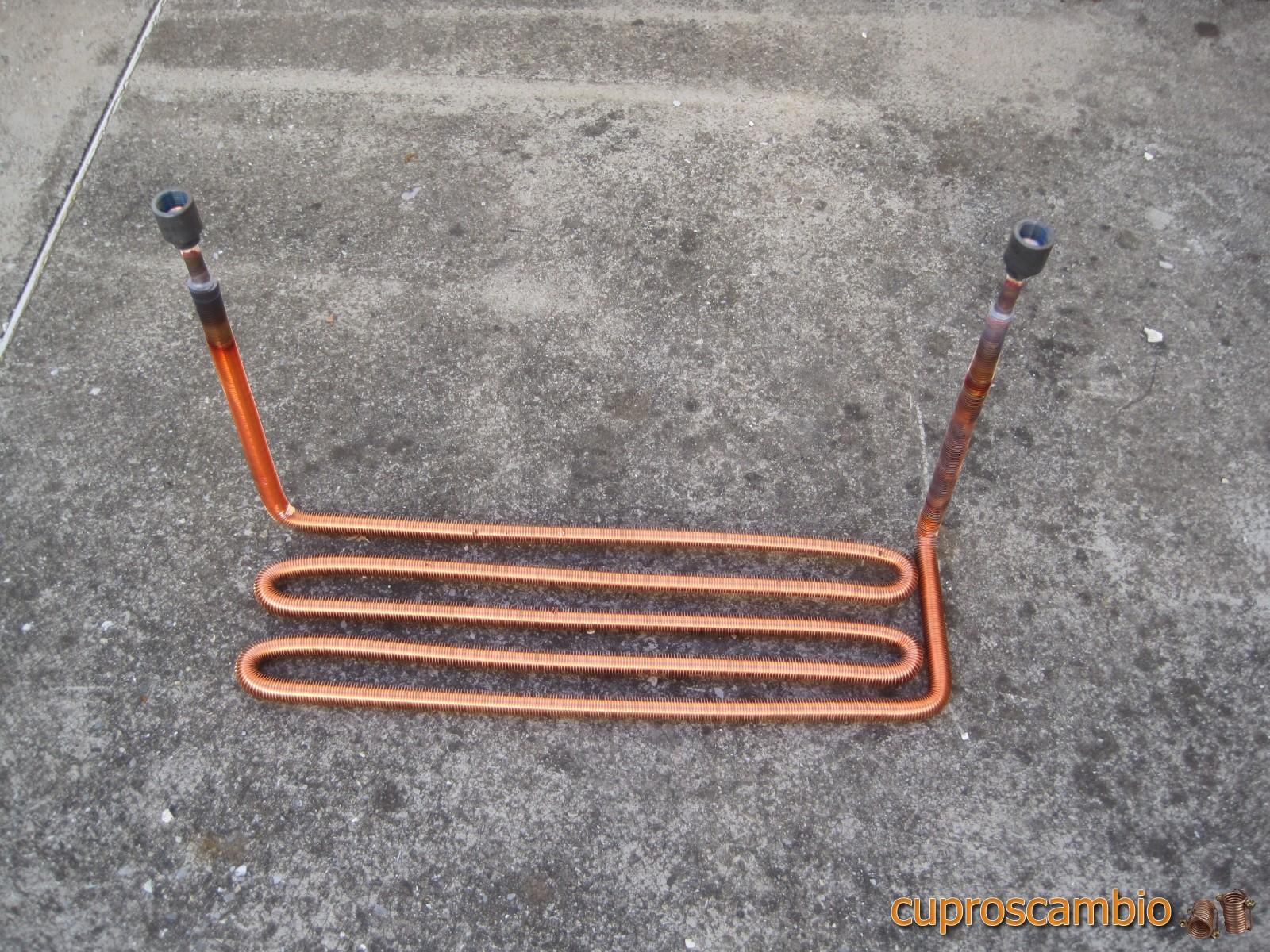 Serpentine in rame liscio e acciaio inox per la produzione for Doccia tubo di rame